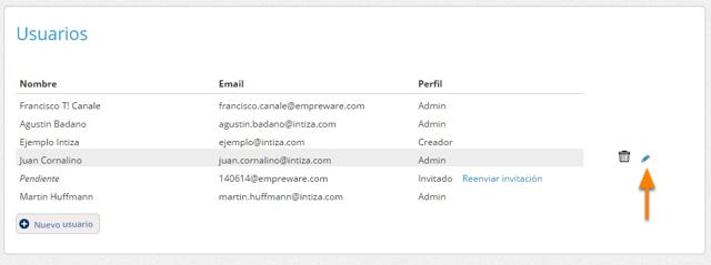 """Se mostrará la página de usuarios. Haz clic en el botón """"Editar"""" del usuario al que deseas editarle los permisos."""