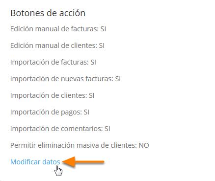 """En la parte de """"botones de acción"""" haz clic en """"Modificar datos""""."""