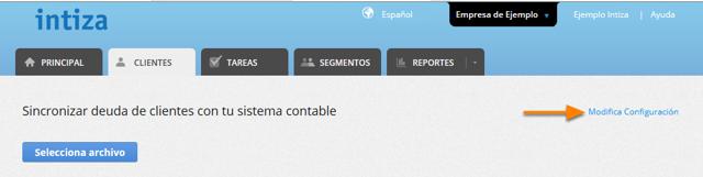 "Haz clic donde dice ""Modifica Configuración""."