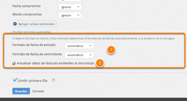 Además puedes editar la configuración de las opciones avanzadas