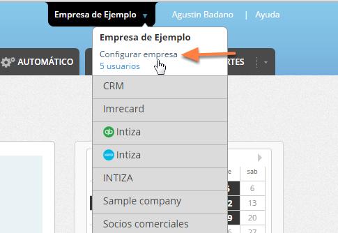 Si esta opción no se encuentra disponible deberás habilitarla ingresando a la configuración de la empresa.