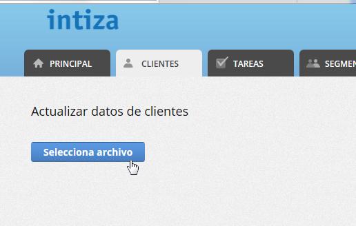 """Se mostrará la pantalla para que selecciones el archivo a importar. Haz clic en """"Seleccionar archivo""""."""