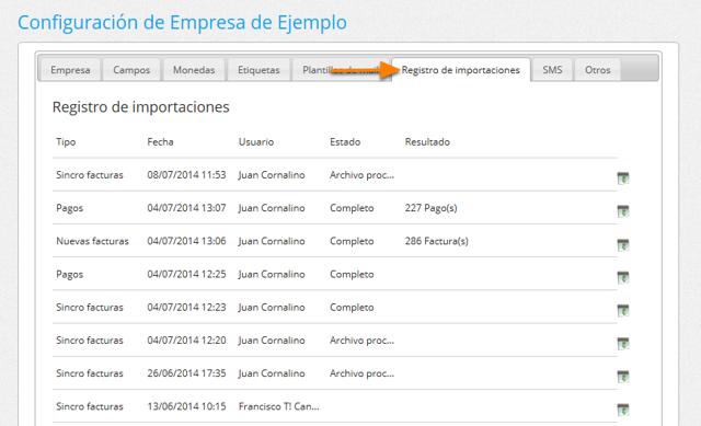 """Ve a la solapa """"Registro de importaciones""""."""