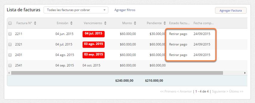 Al hacer clic en Guardar se editarán las facturas