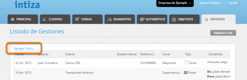 """Haz clic en """"Agregar Filtros""""."""