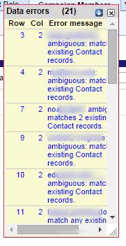 Handling Data errors