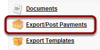 Select Export/Post Payments tab