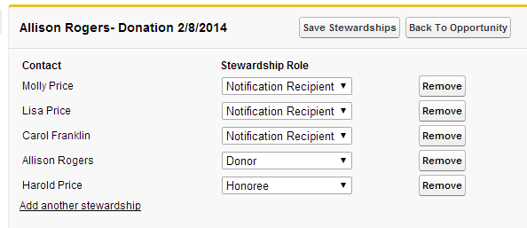 Stewardship records