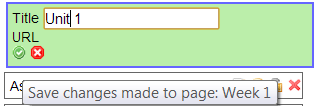 Click the green check mark to save any tool title changes.