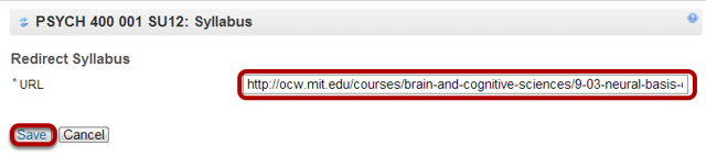 Enter the URL.