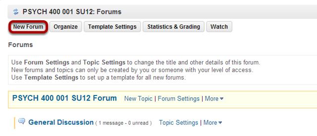 Click New Forum.