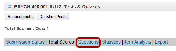 Grade by question.