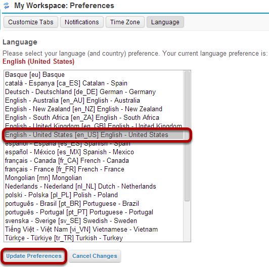 Choose your language.