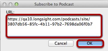 Paste the URL.