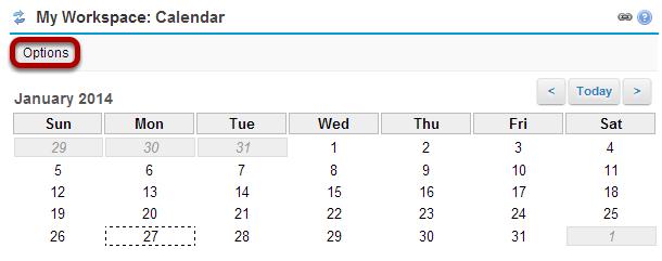 Calendar Options