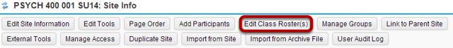 Click Edit Class Rosters.
