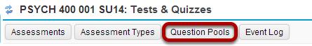 Click Question Pools.