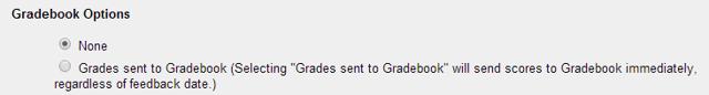 Grading and Feedback: Gradebook options.