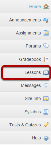 Go to Lessons in the Tool Menu.