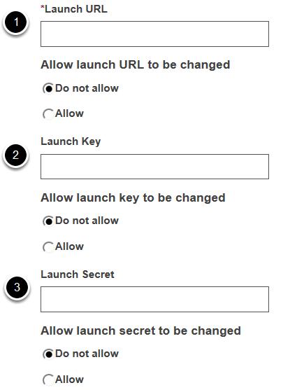 Launch settings