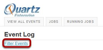 Click Filter Events.