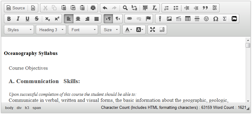 View Word content in the editor.