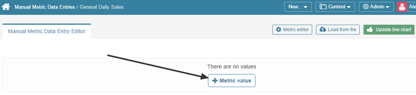 Click [+ Metric Value]