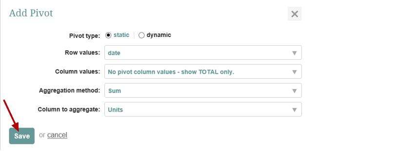 Define Pivot Parameters