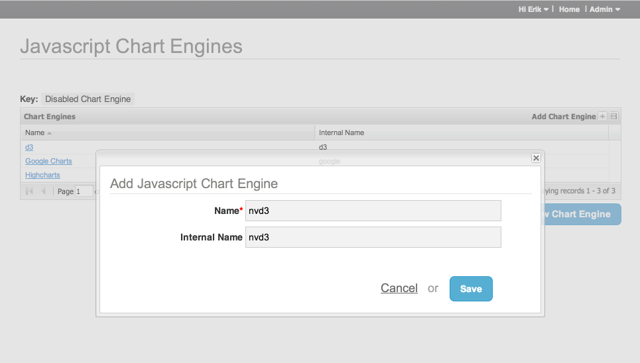 Add the JavaScript Chart Engine