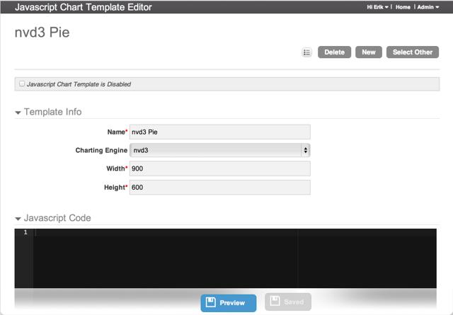 JavaScript Template Editor