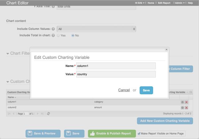 Adjust Custom Charting Variables