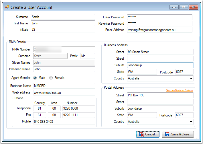 Migration Manager is now Activated and ready for use. You will now be asked to set up the first User.