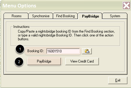 Enter Booking ID & PayBridge