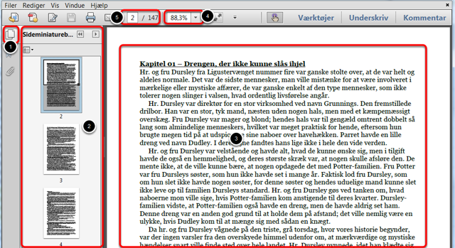 Åbn den downloadede opgave i Adobe Reader