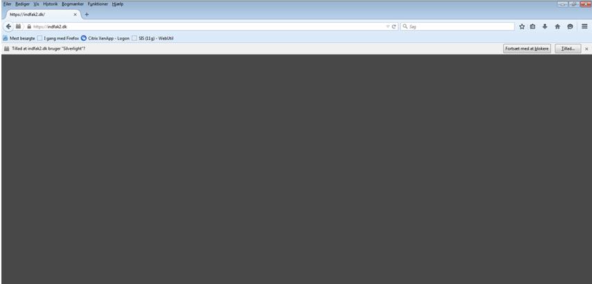 Gå til siden indfak2.dk. Brug enten Firefox eller Safari til at åbne siden med.