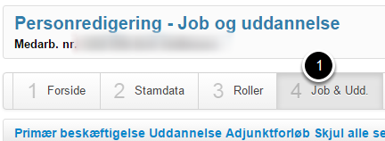 Vælg fanen Job & Udd.