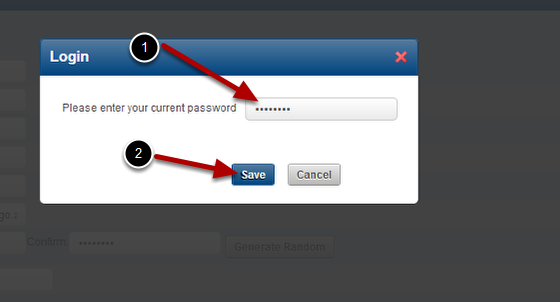 If you updated your Password you must enter in your original password to save the changes. The new password will not be recognised yet.