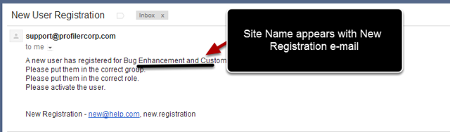 Any requests for newly registered users will include the system name which they are trying to access. Previously this did not appear
