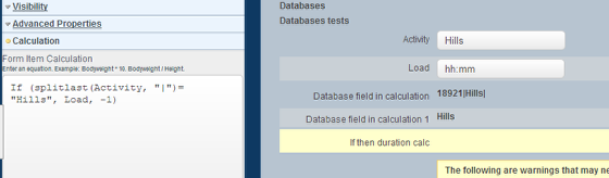To use the database result as part of an If/Then calculation just ensure you write your equation correctly