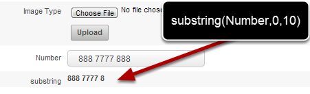 Substring calculations can also work if there is a break in the string as shown here