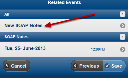"""If the users clicks on """"Save and Continue"""" the Related Event field would appear as normal"""