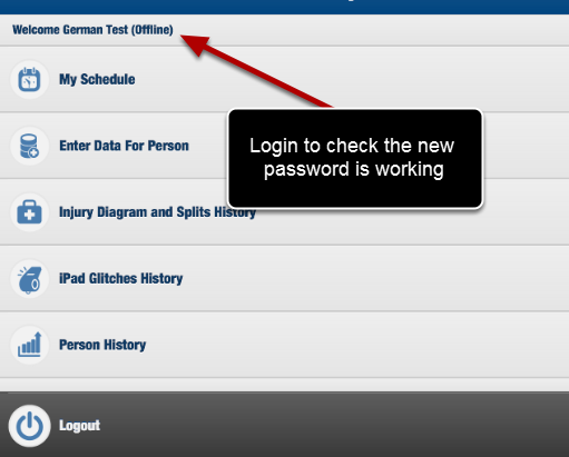 Also, login offline to double check the new password has been applied.