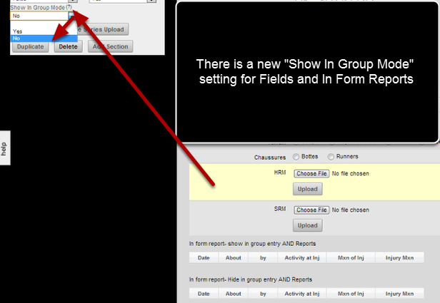 "To hide a field from showing in Group Entry Mode (so that it does not appear as a column in the Group Entry Table) set the ""Show In Group Mode"" to ""No"""