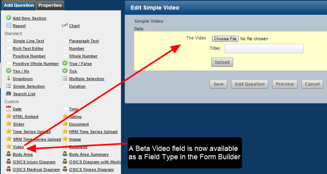 "You can now upload and view video files directly in any Event Forms using the new Beta ""Video"" Field"