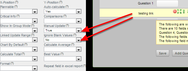 Two Linked Field Advanced Properties were not being set correctly