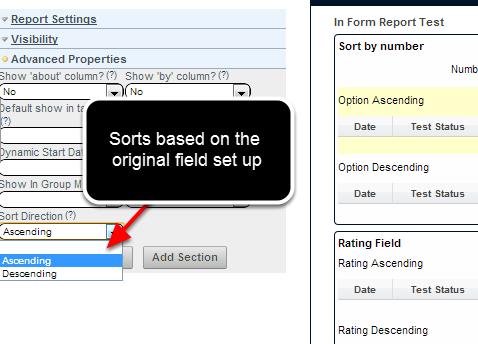 Now choose to sort in Ascending or Descending order