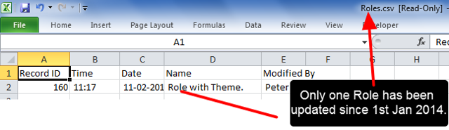 The Audit Trail will display up to six different columns depending on the Module you run the audit for
