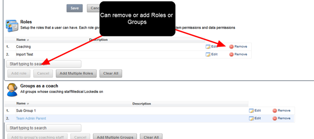 They can only edit this users Roles and Groups