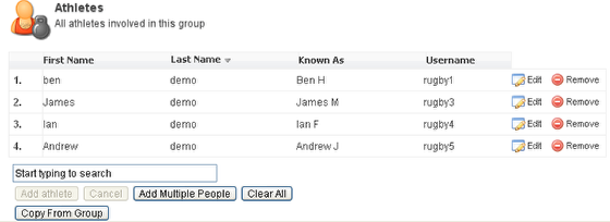 6. Those athletes will now be added to your group