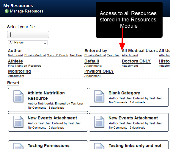 Previously, all Resources uploaded into the My Resources Module were accessible to everyone